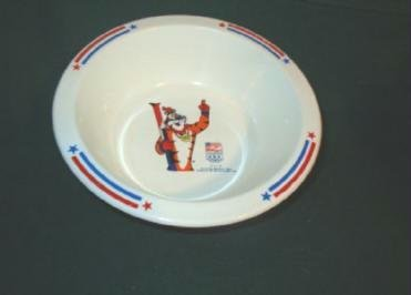 Tony the Tiger at 1992 Winter Olympics Kelloggs Cereal Bowl Collectible