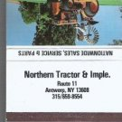 Matchbook Northern Tractor Imple Antwerp N Y Kubota 40 Strikes Cover
