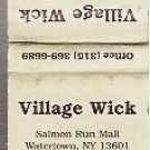 Village Wick - Yankee Candles Advertisement Matchbook Cover