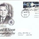 Richard Nixon Inauguration Day fdc 1/73 with Two 8 cent U S In Space Stamps