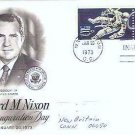Richard Nixon Inauguration Day fdc Jan 1973 - Two Space 5 cent Stamps