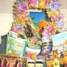Large Hawaiian Delight Souvenir Basket of Goodies and Treasures Cards Tea Bags Hula Dancer plus