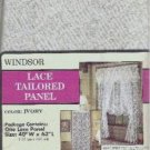 Lace Tailored Curtain Panel - New in Package - 40 x 63 inches Designed by Windsor