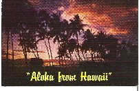 Aloha From Hawaii Postcard From 1960s in Color Unused and in Great Condition