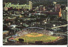 Aerial View Binghamton NY Municipal Stadium Home of Binghamton Mets Unused Postcard
