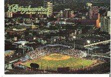 Aerial View Binghamton NY Municipal Stadium Home of Binghamton Mets Unused Postcard