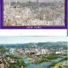 Two Binghamton N Y Aerial View Postcards Summer and Winter Seasons Unused