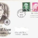 Richard Nixon Inauguration Day Jan 1973 fdc 1, 2, and 5 cent Stamps