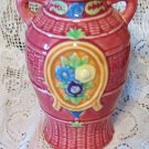 Vintage Vase with Handles - Hand Painted Marked Made in Japan EC