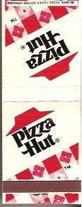 Two Pizza Hut Matchbook Covers Unused - Very Good Cond