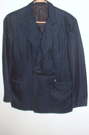 Palm Beach for Fisher and Son Mens Blue Blazer Jacket Sz 39R