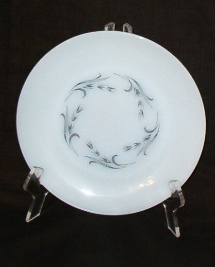 Fire King Anchor Hocking Gray Harvest Dinner Plate Dish Vintage