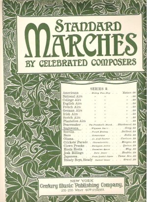 Sagawana sheet Music by Gray - Standard Marches 1905 Antique