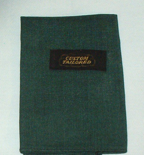 Two Custom Tailored Mens Handkerchiefs Berry and Green ~ Vintage but New