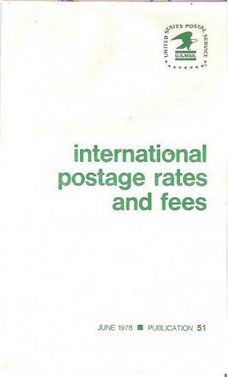 U S P S International Postage Postal Rates Fees Pamphlet 1978 Publ 51