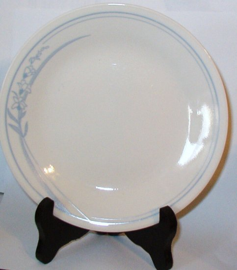 Corelle Blue Lily Dessert or Bread Butter Plate Discontinued Mint