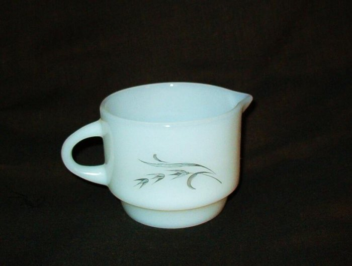 Anchor Hocking Creamer - Harvest - Silver Wheat Pattern Vintage Exc Cond