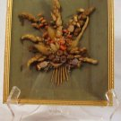 Beautiful Dried Flowers Behind Glass 8 x 10 Gold Frame