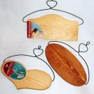 Three Plaques with Arched Wire Hangers - Ready to Paint