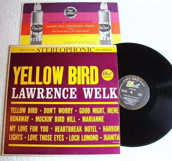 Lawrence Welk Yellow Bird lp Made in Canada - Near Mint