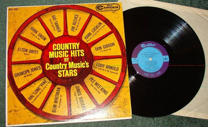 Country Music Hits by Country Musics Stars lp 1962 vgc One Owner