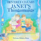 Janet&#39;s Thingamajigs by Beverly Cleary Hardcopy Childrens Book 0688066186