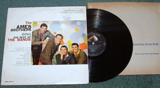 The Best of the Bands The Ames Brothers Sing lp 1960 rca lpm 2273