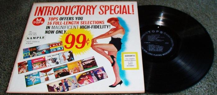 Tops Records Offers You 16 Full Length Selections lp Album 33 1/3 rpm 1950s VGC