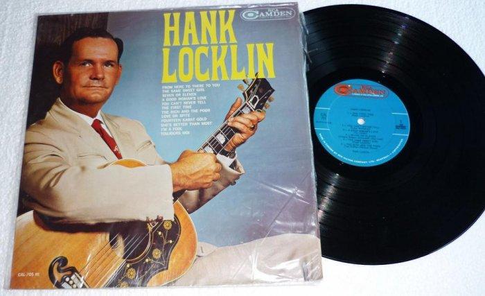 Hank Locklin 1960s lp rca Camden Label cal 705 One Owner