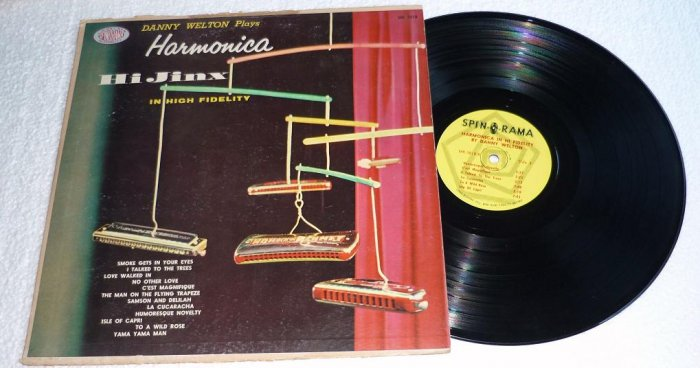 Danny Welton Plays Harmonica Hi Jinx lp Spinorama mk 3018