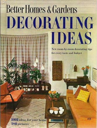 Better Homes Gardens Decorating Ideas 1001 Ideas For Your Home Book 1960