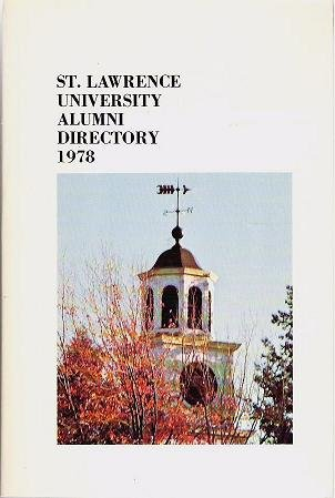 St Lawrence University Alumni Directory 1978 incl Grads From 1901->