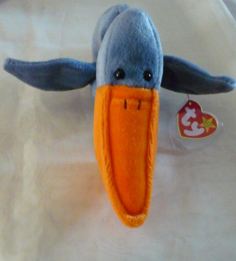 Scoop the Pelican Ty Teenie Beanie Baby Retired Mint