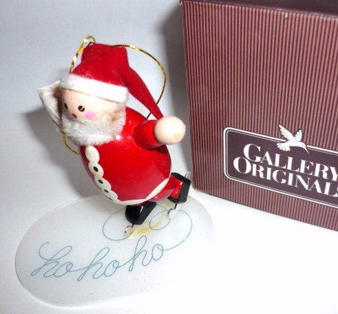 Santa on Ice Avon Ornament Rare 1984 New in Box Collectible