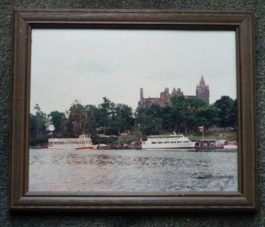 Framed Photo of Boldt Castle on Heart Island in Alexandria Bay NY