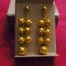 New in Box 1992 Avon Filigree Shower Earrings Gold Tone Dangle