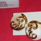 1990 and New in Box Avon Lustrous Filigree Gold Tone Pierced Earrings