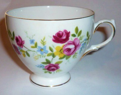 Ridgway Queen Anne Bone China Cup Floral Pattern 8456