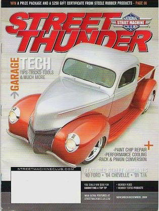Street Thunder Magazine Nov Dec 2008 No Label Ford Chevelle Garage Tips