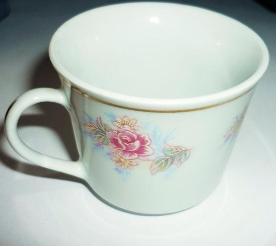 Demitasse or Miniature Cup Rose Pattern Marked Made in China Vintage