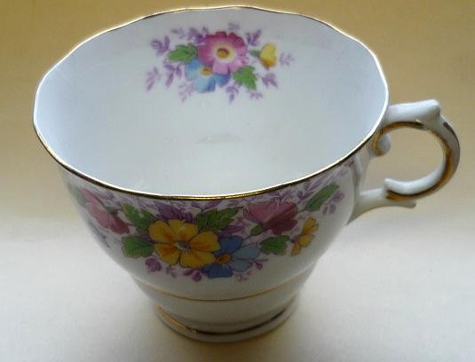 Dainty Cup by Colclough - England Bone China Floral Bouquet