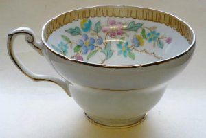 E Brain Foley Co Cup Floral Pattern Entirely Inside Vintage Mint