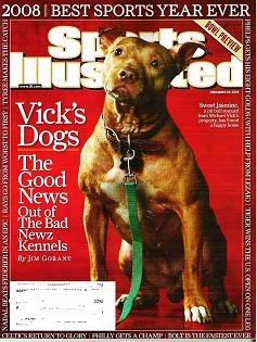 SPORTS ILLUSTRATED December 29 2008 Vicks Dogs