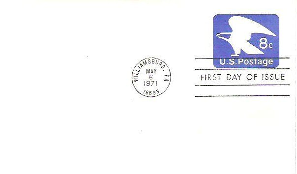 May 1971 fdi Williamsburg Pa Machine Canceled Unaddressed