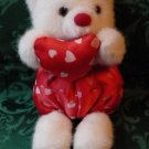 Wangs International Valentine Bear 1980s-90s Hearts and Satin