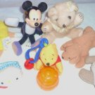 7 Collectors Plush and Bean Bag Toys Mickey - Pooh - M n M - Kitty ++