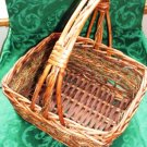 Rectangular Reed and Rope Handled Basket Medium Size