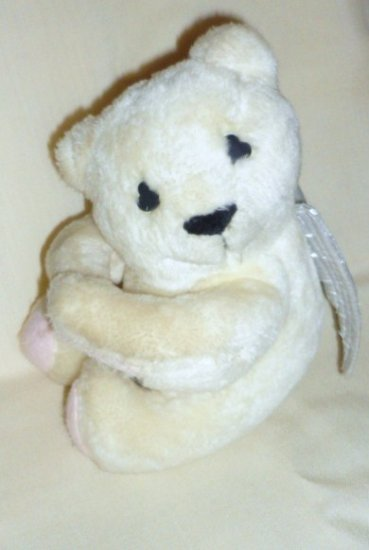Plush White Angel with Wings Bear by Teleflora Flowers 1985