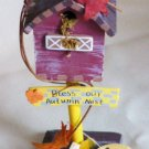 Whimsical Bless our Autumn Nest Decorative Birdhouse NWT