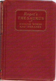 Rogets Thesaurus of English Words and Phrases Hardcopy 1936